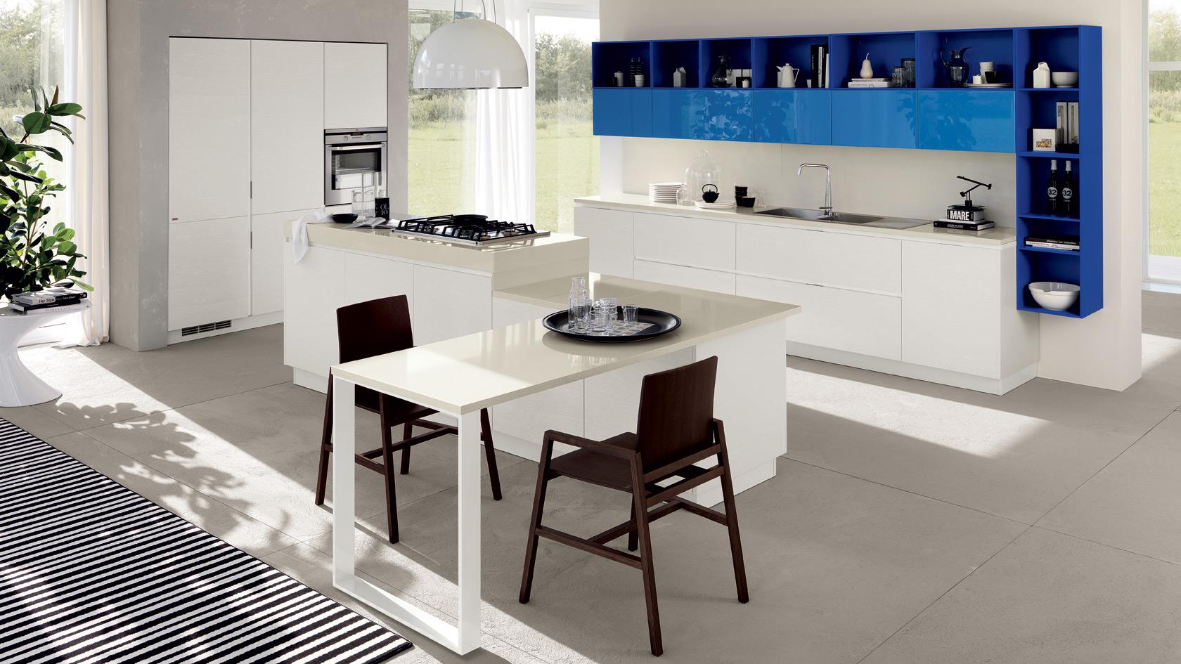 Cucine Scavolini Con Lavello Ad Angolo : Cucine Acciaio E Vetro  #1C649E 1680 945 Programma Per Progettare Cucine Scavolini